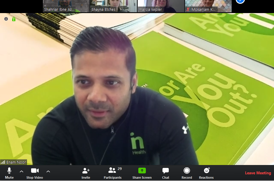 zoom meeting by Insightin Health team