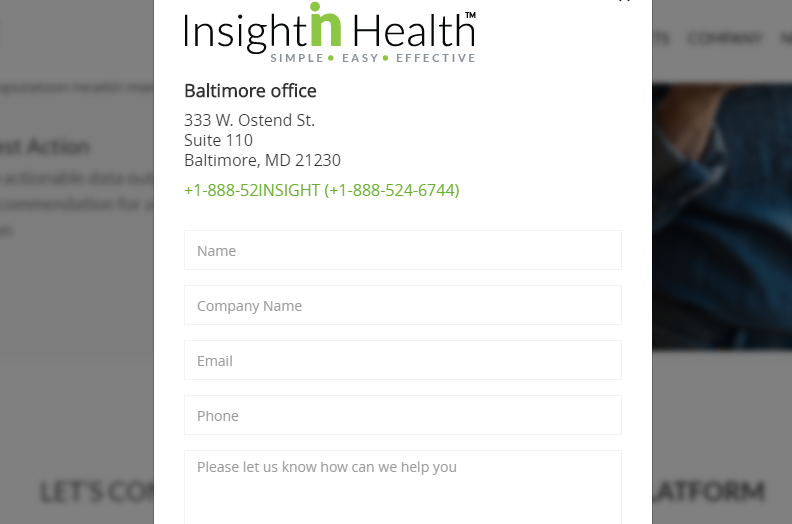 Insightin Health Form